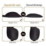 Schlafmaske für Damen & Herren, UNIMI 3D PLUS Geformte Augenmaske, Augenabdeckung Schlafmaske & Augenbinde, mehr Platz für die Augen, festere Passform auf Ihrer Nase - Schwarz - 2