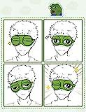 Bllomsem Augenmaske Schlaf, Flusen Karikatur Frosch Augen Maske Schlafen Lustige Neuheit Augen Abdeckung Eyeshade Schlaf Reise Maske (Grün) - 4