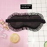 Fablcrew Schlafmaske mit Spitze zu Hause oder Reisen für Damen, Rosa - 4