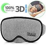 Schlafmaske, VOLUEX-Schlafmasken für Damen, Herren, Kinder, 100% Blockiert Licht, atmungsaktiver Memory-Schaum mit Baumwolle, Einstellbare, Waschbare, Konturierte 3D-Augenmaske zum Schlafen