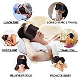 Viedouce Schlafmaske Seide Augenmaske,100% Hautfreundlich Seide Schlafmaske Frauen und Herren, Angenehme Schlafmaske,Ideal für Schlaf zu Hause und Auf Reisen (Schwarz) - 3