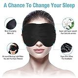 Viedouce Schlafmaske Seide Augenmaske,100% Hautfreundlich Seide Schlafmaske Frauen und Herren, Angenehme Schlafmaske,Ideal für Schlaf zu Hause und Auf Reisen (Schwarz) - 5