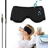 Schlaf-Kopfhörer, bequeme waschbare Augenmaske mit integriertem Kopfhörer zum Schlafen, ideal für Flugreisen, Entspannung, Meditation, Schlaflosigkeit, Seitenschlaf, M (55cm ~ 57cm)