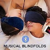 Bluetooth Schlafmaske, Schlafmaske Bluetooth Kopfhörer, Schlafkopfhörer Bluetooth Musik Augenmaske, Kabellos Bluetooth-Kopfhörer Musik Travel Sleeping Headset