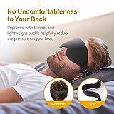 Schlafmaske, Unimi verbesserte 3D konturierte schlafbrille & Augenmaske, 100% lichtblockierende hlafbrille für Frauen und Männer, Augenbinde zum Schlafen, für Reisen, Yoga und Meditation - 7