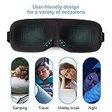 PaiTree Schlafmaske Damen und Herren, Premium Schlafbrille patentiertes Design Blackout Augenmaske, 3D konturierte komfortabler Augenschutz & Augenbinde, komplette Dunkelheit. - 8